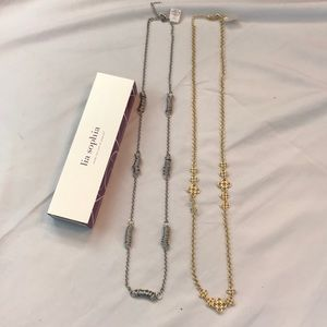 NWT Lia Sophia long necklace bundle